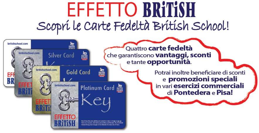 fidelity card effetto British